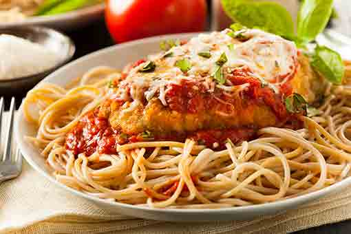 Chicken Parm with Spaghetti