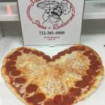 Pepperoni Heart Shaped Pizza
