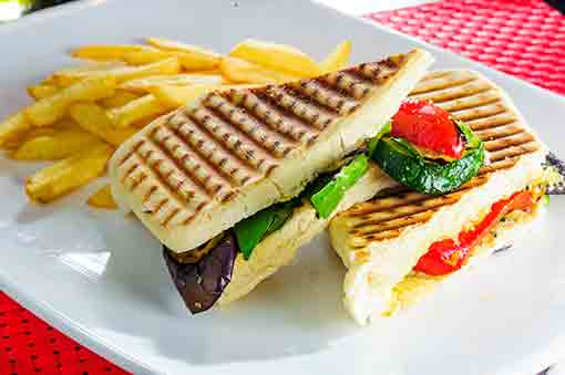 Panini with fries